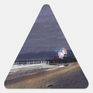 Amerikaner Riesenrad herein Santa Monica Dreieckiger Aufkleber