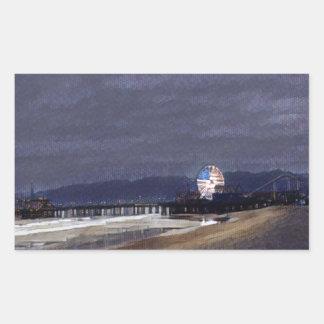 Amerikaner Riesenrad herein Santa Monica Rechteckiger Aufkleber