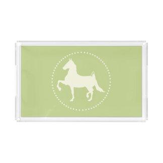 Amerikaner Saddlebred PferdeSilhouette Acryl Tablett