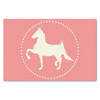 Amerikaner Saddlebred PferdeSilhouette Seidenpapier