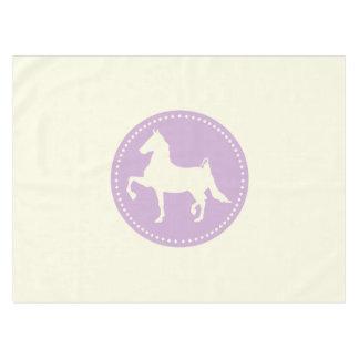 Amerikaner Saddlebred PferdeSilhouette Tischdecke