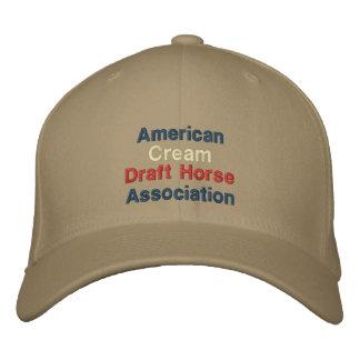 Amerikaner, Sahneentwurfs-Pferdevereinigungs-Kappe Besticktes Cap