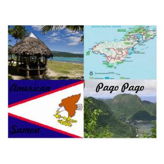 Amerikaner, Samoa-Inseln, Pago Pago Postkarte