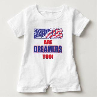 Amerikaner sind Träumer auch! Baby Strampler