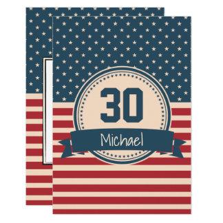 Amerikaner spielt 8,9 x 12,7 cm einladungskarte