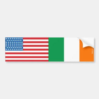 Amerikaner u. Irland-Flaggen-Autoaufkleber Autoaufkleber