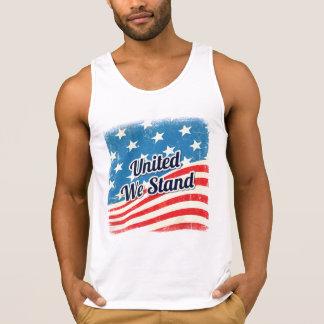 Amerikaner vereinigte uns stehen Flagge Tank Top