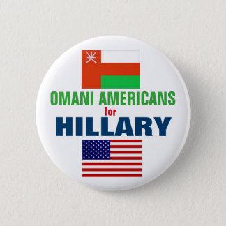 Amerikaner von Oman für Hillary 2016 Runder Button 5,1 Cm