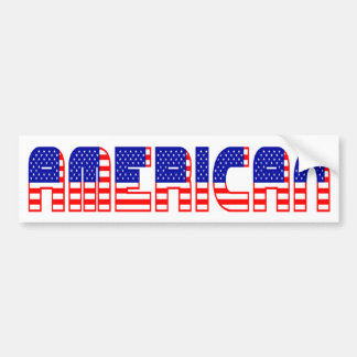 Amerikanisch Autoaufkleber