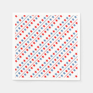 Amerikanisch-Flagge-Sternhintergrund Serviette