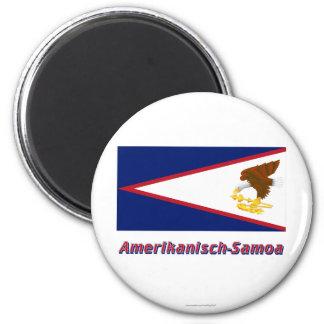 Amerikanisch-Samoa-Inseln Flagge MIT Namen Runder Magnet 5,7 Cm