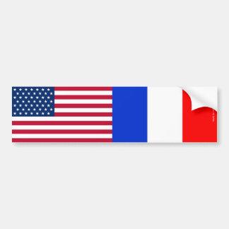 Amerikanisch u. Franzosen kennzeichnet Autoaufkleber