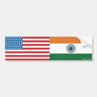 Amerikanisch und Inder kennzeichnet Autoaufkleber