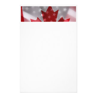 Amerikanisch und Kanadier kennzeichnet Briefpapier