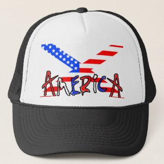 Amerikanisch-x mit Amerika Truckerkappe