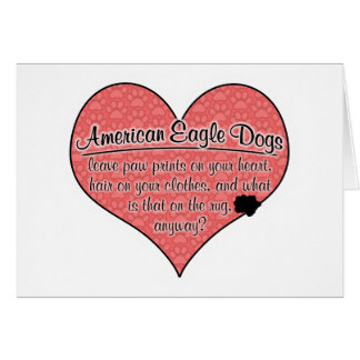 Amerikanische Adler-Hundetatze druckt Spaß Grußkarte