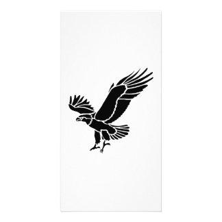 Amerikanische Adler-Silhouette Photo Grußkarte