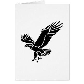 Amerikanische Adler-Silhouette Karte