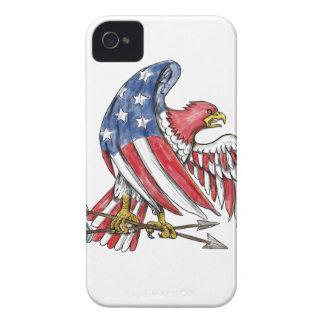 Amerikanische Adler-US Flagge-Flaggen-Tätowierung iPhone 4 Cover