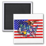 Amerikanische Adler US-Flagge USA-Staatsflaggen vo Magnets