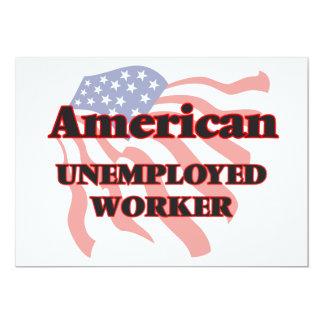 Amerikanische arbeitslose Arbeitskraft 12,7 X 17,8 Cm Einladungskarte