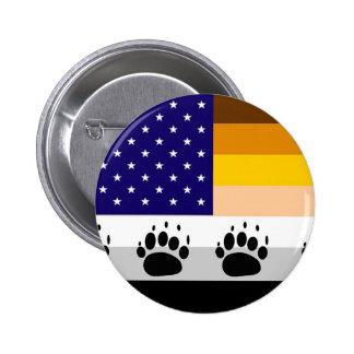 Amerikanische Bärn-Stolz-Flagge 2 Runder Button 5,1 Cm