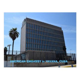 Amerikanische Botschaft in Kuba Postkarte