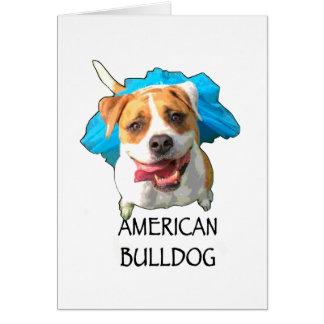amerikanische Bulldogge Karte