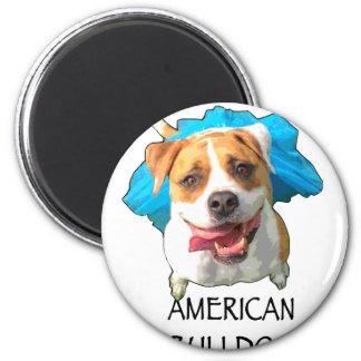amerikanische Bulldogge Runder Magnet 5,7 Cm
