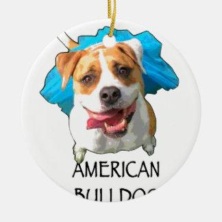 amerikanische Bulldogge Rundes Keramik Ornament