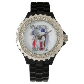 Amerikanische Bulldogge Uhr