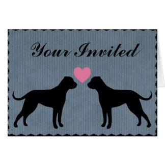 Amerikanische Bulldoggen-Liebe-Wedding Party Karte