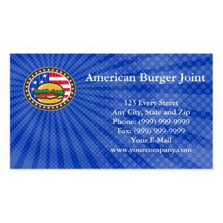 Amerikanische Burger-Gelenk-Visitenkarte Visitenkarten