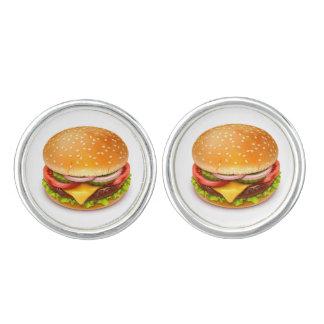 Amerikanische Burger-Manschettenknöpfe Manschettenknöpfe