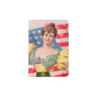 Amerikanische Dame Liberty Flag Passhülle