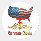 Amerikanische deutsche Wurzeln Runder Aufkleber