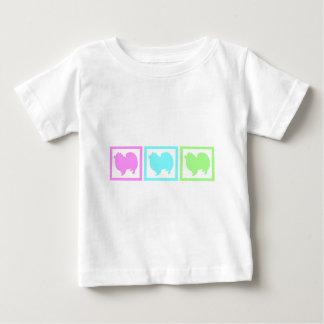 Amerikanische EskimoEskie Quadrate Baby T-shirt