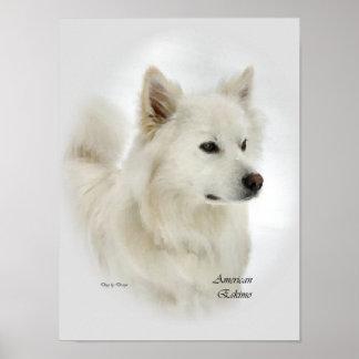 Amerikanische Eskimohundekunst-Drucke Poster