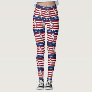 Amerikanische Flagge 4. roten weißen blauen Leggings