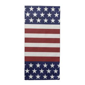 Amerikanische Flagge 4. USA personalisierter Stoffserviette