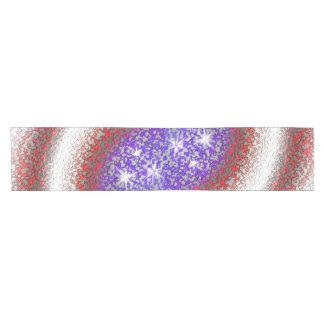 Amerikanische Flagge abstrakt Kurzer Tischläufer