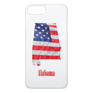 Amerikanische Flagge Alabama Vereinigte Staaten iPhone 8 Plus/7 Plus Hülle