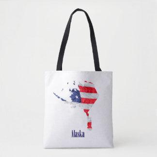 Amerikanische Flagge Alaska Vereinigte Staaten Tasche