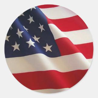 Amerikanische Flagge Alter Ruhm Runder Sticker