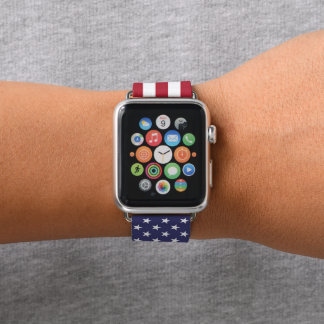 Amerikanische Flagge Apple Watch Armband