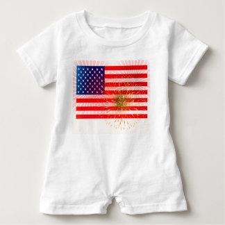 Amerikanische Flagge Baby Strampler