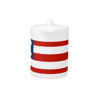 Amerikanische Flagge beunruhigt