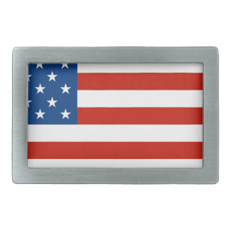 Amerikanische Flagge beunruhigt Rechteckige Gürtelschnallen