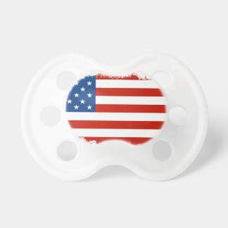 Amerikanische Flagge beunruhigt Schnuller