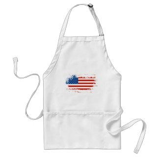 Amerikanische Flagge beunruhigt Schürze